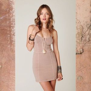 Free People Bodycon Bustier Dress Blush